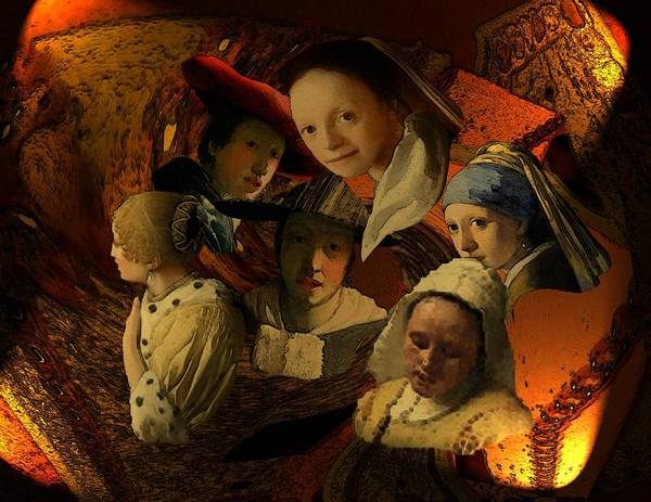 Digital Art - 17th Century Maidens by Tristan Armstrong
