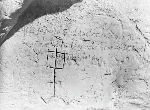 Inscription Photograph - 17th-century Rock Inscription by Library Of Congress/science Photo Library