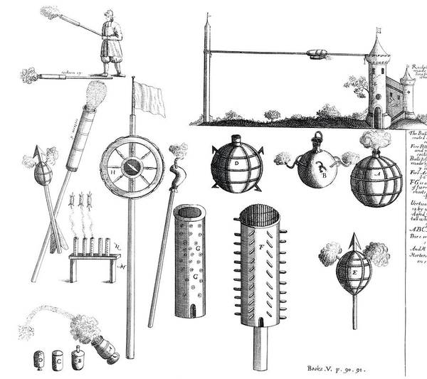 Siege Photograph - 17th Century Weapons by Royal Astronomical Society/science Photo Library