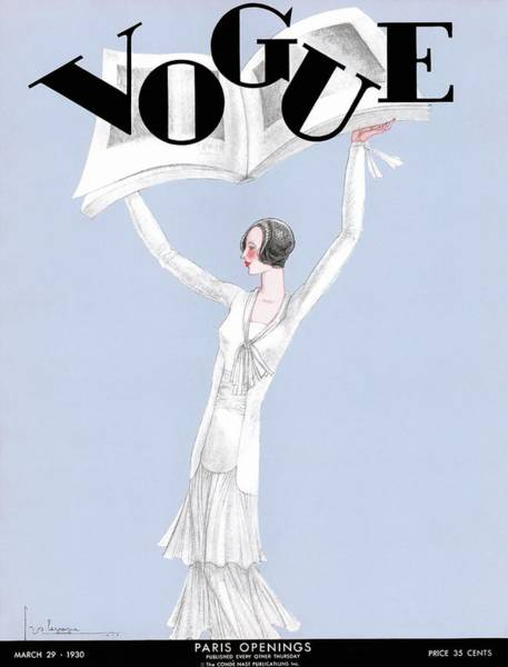 Copy Photograph - A Vintage Vogue Magazine Cover Of A Woman by Georges Lepape