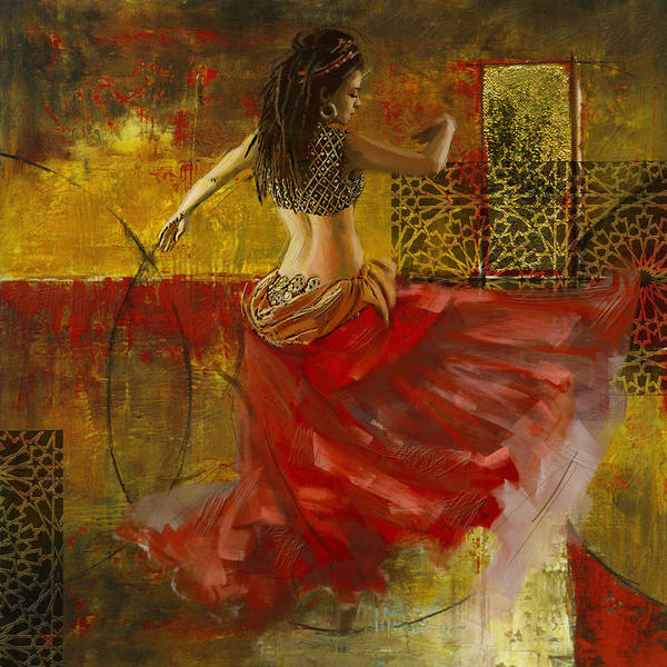 Corporate Art Task Force Wall Art - Painting - Abstract Belly Dancer 6 by Corporate Art Task Force
