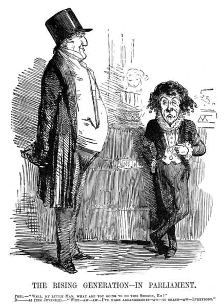 Political Cartoon Painting - Benjamin Disraeli (1804-1881) by Granger