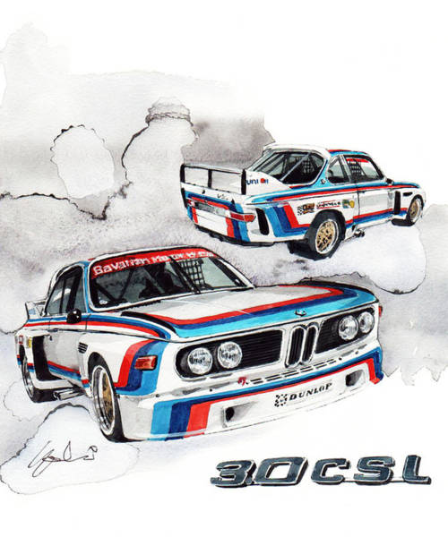 0 Wall Art - Painting - Bmw 3.0 Csl by Yoshiharu Miyakawa