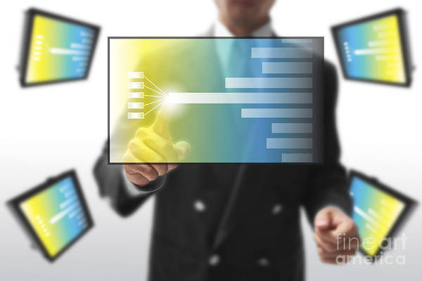 Technology Mixed Media - Business Abstract by Atiketta Sangasaeng