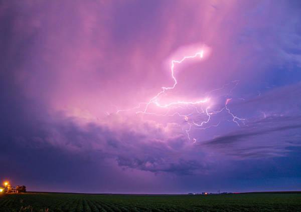 Photograph - Early Morning Nebraska Thunderstorms by NebraskaSC