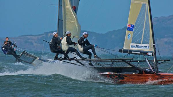 Photograph - 18 Skiffs San Francisco Bay by Steven Lapkin