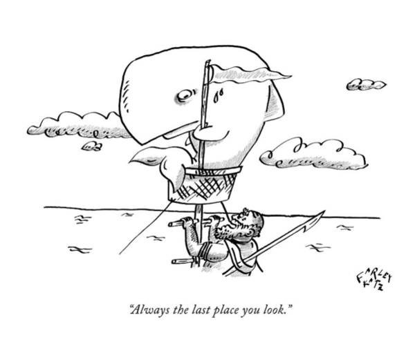 Crow Drawing - Always The Last Place You Look by Farley Katz