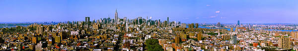 Wall Art - Photograph - 180 Degree View Of A City, New York by Panoramic Images