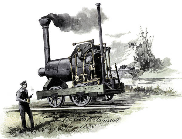 Invention Painting - 1800s 1830 George W. Johnson Steam by Vintage Images