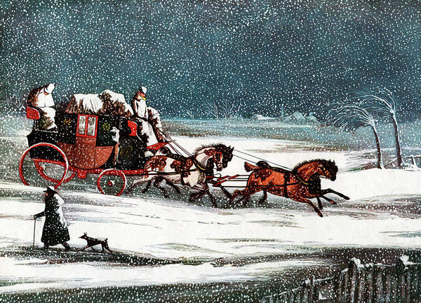 Brighton Painting - 1800s 1830s Winter Snow Scene by Vintage Images