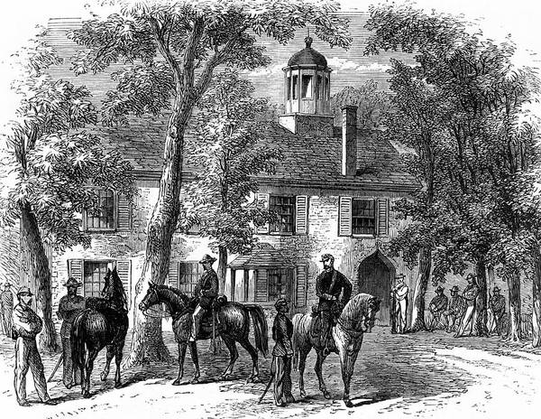 Courthouse Painting - 1800s 1860s Fairfax Courthouse Virginia by Vintage Images