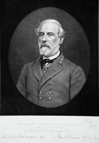 Confederate Generals Painting - 1800s 1860s Portrait Of Robert E Lee by Vintage Images