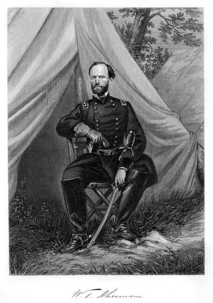 William Tecumseh Sherman Painting - 1800s 1860s Seated Portrait William by Vintage Images