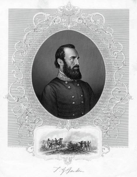 Stonewall Jackson Painting - 1800s 1860s Thomas Stonewall Jackson by Vintage Images