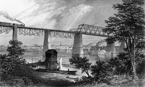 Pylon Painting - 1800s 1870s 1872 View Of Louisville Ky by Vintage Images