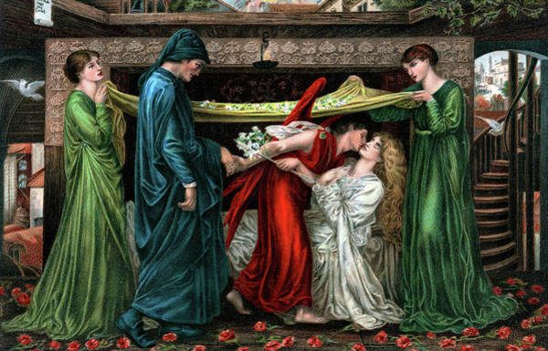Gabriel Painting - 1800s 1871 Painting By Dante Gabriel by Vintage Images