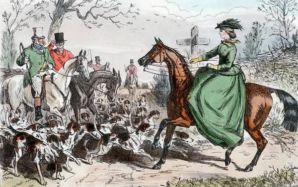 Excitement Painting - 1800s Miss De Glancey Captivates by Vintage Images