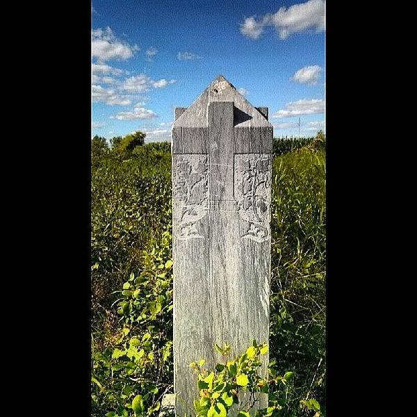 Blue Sky Photograph - 1800's Tombstone by Aaron Kremer