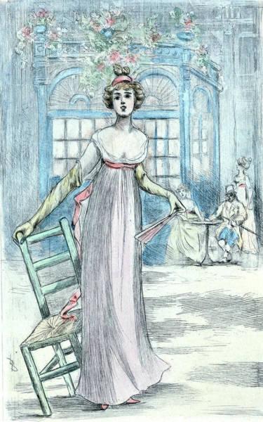 Wall Art - Drawing - 1810, Womens Fashion In Nineteenth-century Paris by Artokoloro