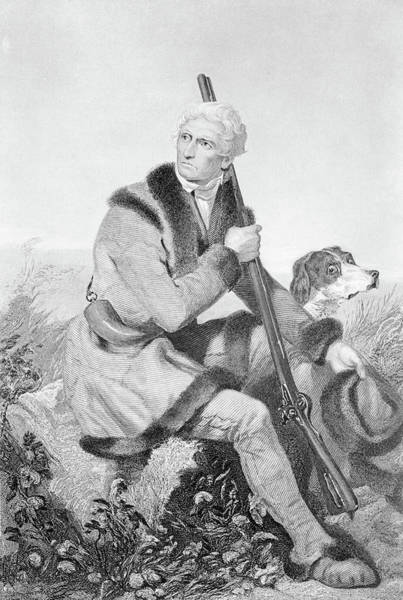 Wall Art - Photograph - 1810s Senior Daniel Boone Hunting by Animal Images