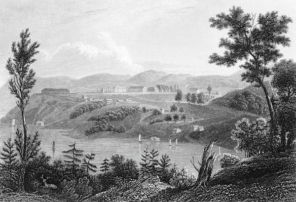 West Point Painting - 1830s 1834 Engraving Of West Point by Vintage Images