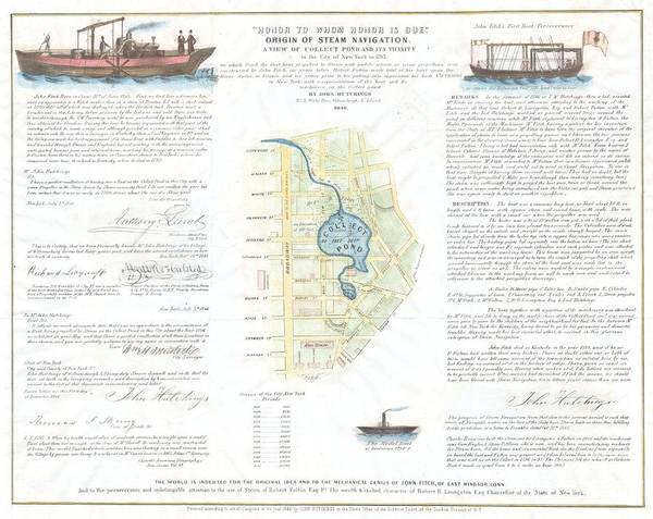 Test Of Time Photograph - 1846 Broadside Of The Collect Pond New York And Steam Boat  Five Points   by Paul Fearn