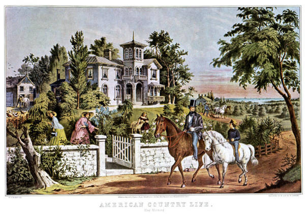 Currier And Ives Painting - 1850s American Country Life - by Vintage Images