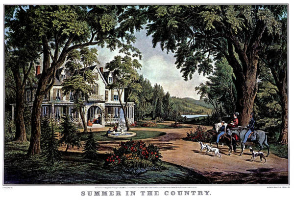 Currier And Ives Painting - 1850s Summer In The Country - Currier & by Vintage Images