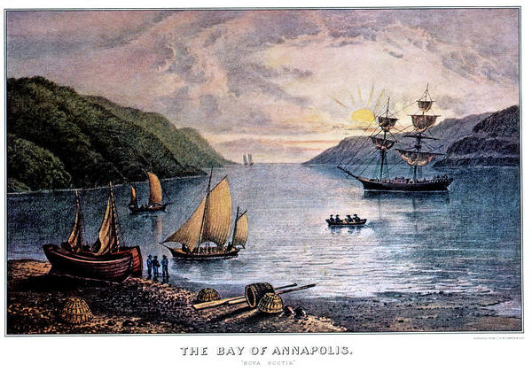 Currier And Ives Painting - 1850s The Bay Of Annapolis - Nova by Vintage Images