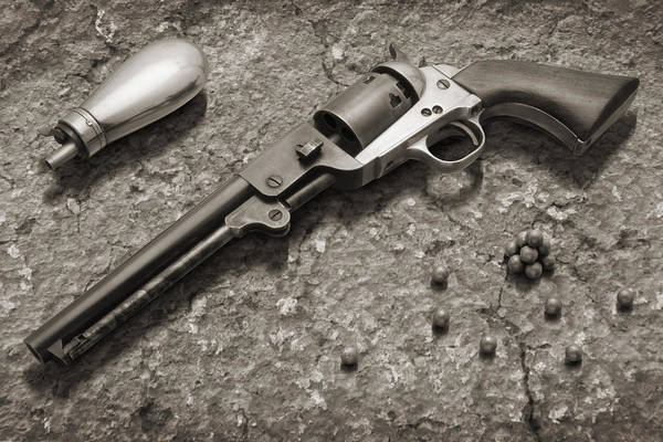 Revolver Photograph - 1851 Navy Revolver 36 Caliber - 2 by Mike McGlothlen