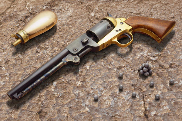 Revolver Photograph - 1851 Navy Revolver 36 Caliber by Mike McGlothlen