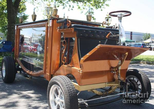 383 Photograph - 1852 Cunningham Hearse With 383 Chevy Stroker Engine by John Telfer