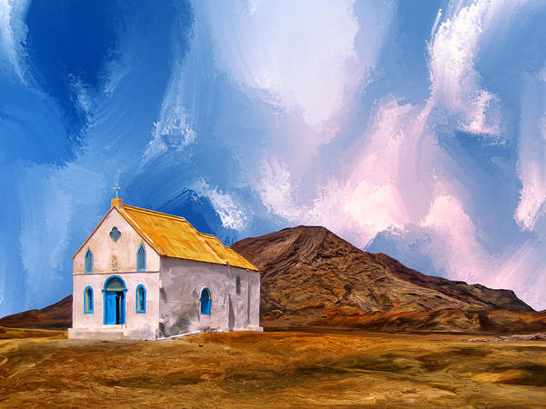 Archipelago Painting - 1855 Church At Cape Verde by Dominic Piperata