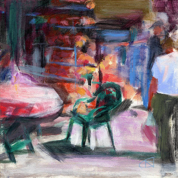 Shopping Districts Wall Art - Painting - Rcnpaintings.com by Chris N Rohrbach