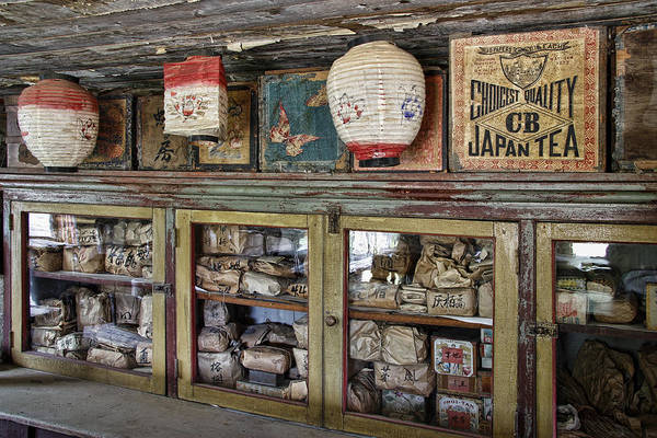 Ghosttown Photograph - 1860's Chinese Mercantile Shop - Montana by Daniel Hagerman