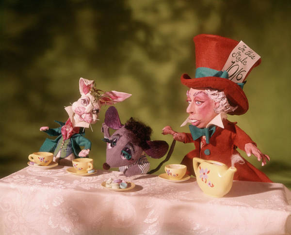 Alice In Wonderland Photograph - 1860s Mad Hatters Tea Party From Alice by Vintage Images