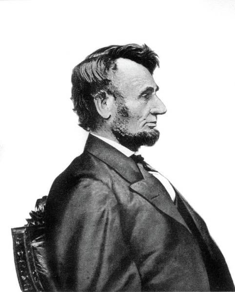 1863 Photograph - 1860s Profile Portrait President by Vintage Images