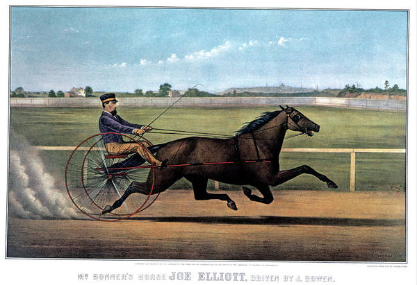 Drive-ins Painting - 1870s Mr. Bonners Horse Joe Elliot by Vintage Images