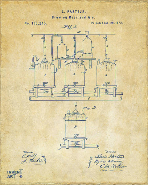 Wall Art - Digital Art - 1873 Brewing Beer And Ale Patent Artwork - Vintage by Nikki Marie Smith