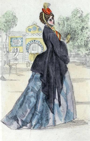Wall Art - Drawing - 1873, Womens Fashion In Nineteenth-century Paris by Artokoloro