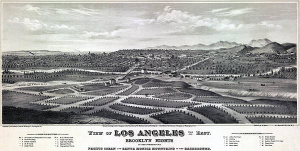 Wall Art - Photograph - 1877 Map Of Los Angeles by Stephen Stookey