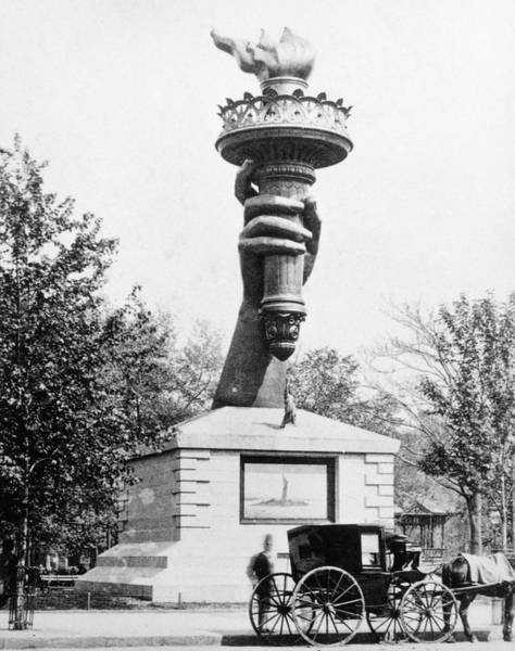 Hands Of Time Photograph - 1880s Statue Of Liberty Torch by Vintage Images