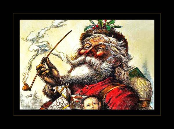 Jolly Holiday Photograph - 1881 Santa by John Stephens