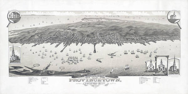 Provincetown Ma Wall Art - Photograph - 1882 Map Of Provincetown Massachusetts by Stephen Stookey