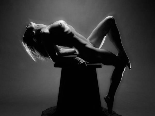 Photograph - 1883 Powerful Nude Woman Black White Photo Artwork by Chris Maher