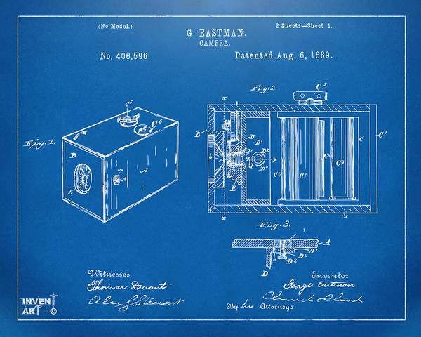 Digital Art - 1889 George Eastman Camera Patent Blueprint by Nikki Marie Smith