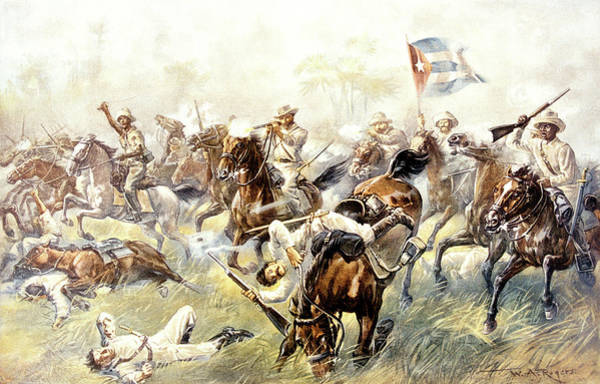 Cuban Painting - 1890s 1898 Spanish American War by Vintage Images