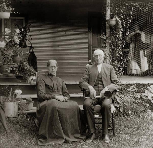 Dour Photograph - 1890s 1900s Portrait Senior Couple by Vintage Images