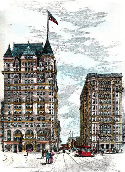 Turn Of The Century Painting - 1890s Hotels Sherry And The Savoy by Vintage Images