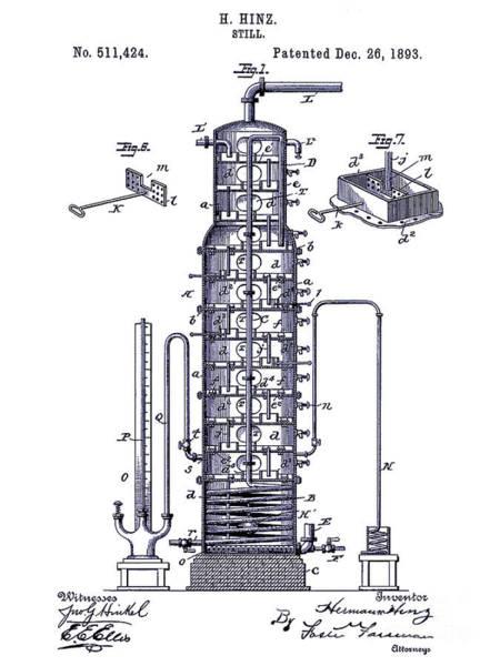 Vintage Patent Drawing - 1893 Still Patent Drawing Blueprint by Jon Neidert